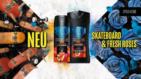 AXE Bodyspray Skateboard & Fresh Roses