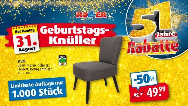 ROLLER Geburtstagsknüller - STUHL für 49,99€
