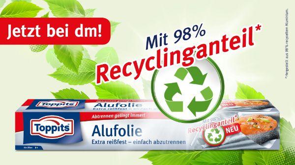 Toppits® Recycling Alufolie bei dm