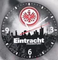 Wanduhr Skyline von Eintracht Frankfurt