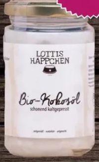 Bio-Kokosöl von Lottis Häppchen