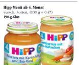 Menü von HiPP