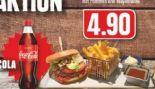 Klassik-Burger mit Pommes und Mayonnaise von Edeka