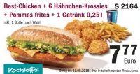 Best-Chicken + 6 Hähnchen-Krossies + Pommes frites + 1 Getränk 0.25 l S 2164 von Kochlöffel