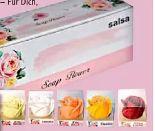 Rosenblüte mit Sprüchen von Salsa