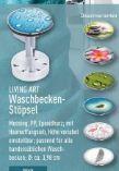 Waschbecken-Stöpsel von Living Art