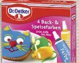 4 Back- & Speisefarben von Dr. Oetker