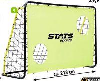 Fußballtor Metall Metall + Torwand von Stats
