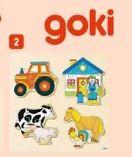 Holz-Einlegepuzzle Bauernhof von Goki