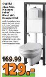 Wand WC-Komplett-Set Das Alles-in-Einem-Paket von Wisa