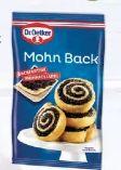 Mohn Back von Dr. Oetker