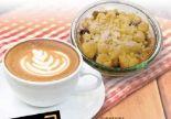 Cappuccino mit Apfel-Crumble von Zurheide