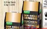 Buchen-Grillholzkohle von Edeka zuhause