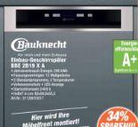Einbau-Geschirrspüler BBE2B19XA von Bauknecht