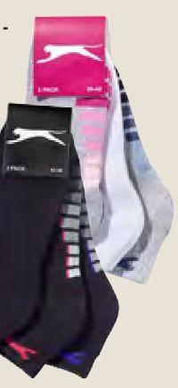 Damen-Kurzschaftsocken 3er-Pack von Slazenger