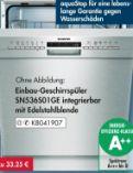 Unterbau-Geschirrspüler SN436S01GE von Siemens