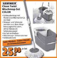 Clean Twist Wischmop-Set Color von Leifheit