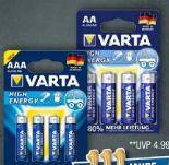 High Energy Batterien von Varta