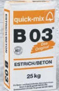 Estrich/Beton von Quick-Mix