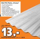 Well PVC Platte Prisma
