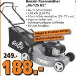 Benzin-Rasenmäher BRM 46-125 BS von Grizzly