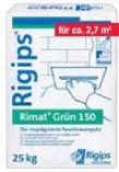 Feuchtraumputz Rimat Grün 150 von Rigips