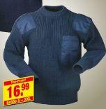 Herren Strick-Pullover Navy