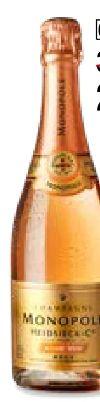 Monopole Rosé Top Champagner Brut von Heidsieck & Co