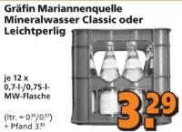 Mineralwasser von Gräfin Mariannen Quelle