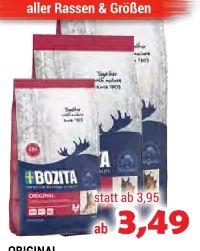 Hundenahrung Original von Bozita