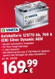 Autobatterie 12V/70 Ah von Varta