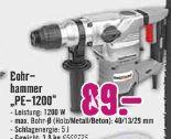 Bohrhammer PE-1200 von Pattfield