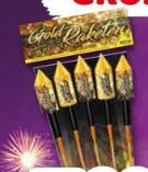 Goldrausch Raketen-Sortiment von Weco Feuerwerk