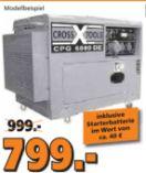 Stromerzeuger Diesel CPG 6000 DE von Cross Tools
