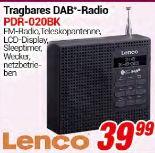 Tragbares DAB-Radio PDR-020BK von Lenco