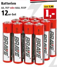 Batterien von Brave