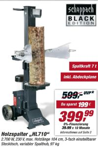 Holzspalter HL710 von Scheppach