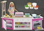 Barbie mit Deluxeküche von Barbie