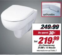 Wand-WC-Set Renova Nr. 1 Rimfree von Keramag