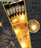 Goldglanz von Comet Feuerwerk