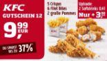 5 Crispys + 6 Filet Bites + 2 große Pommes 12 von KFC