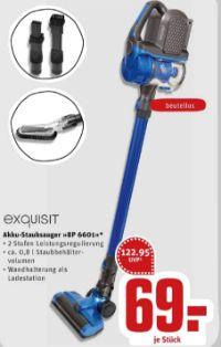 Akku-Staubsauger BP 6601 von Exquisit