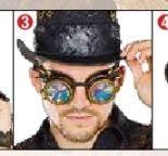 Steampunk Brille von Rubie's