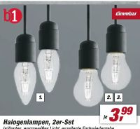 Halogenlampen 2er-Set von B1