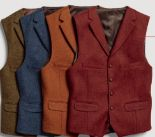 Herren-West Harris Tweed von Tom Rusborg