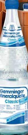 Mineralwasser von Gemminger