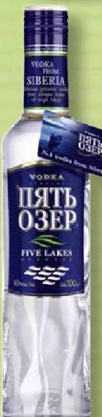 Vodka von Five Lakes
