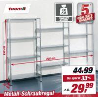 Metall-Schraubregal von Toom