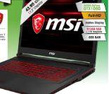 Gaming-Notebook GL73 von MSI