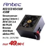 Netzteile Neo Eco NE450M von Antec